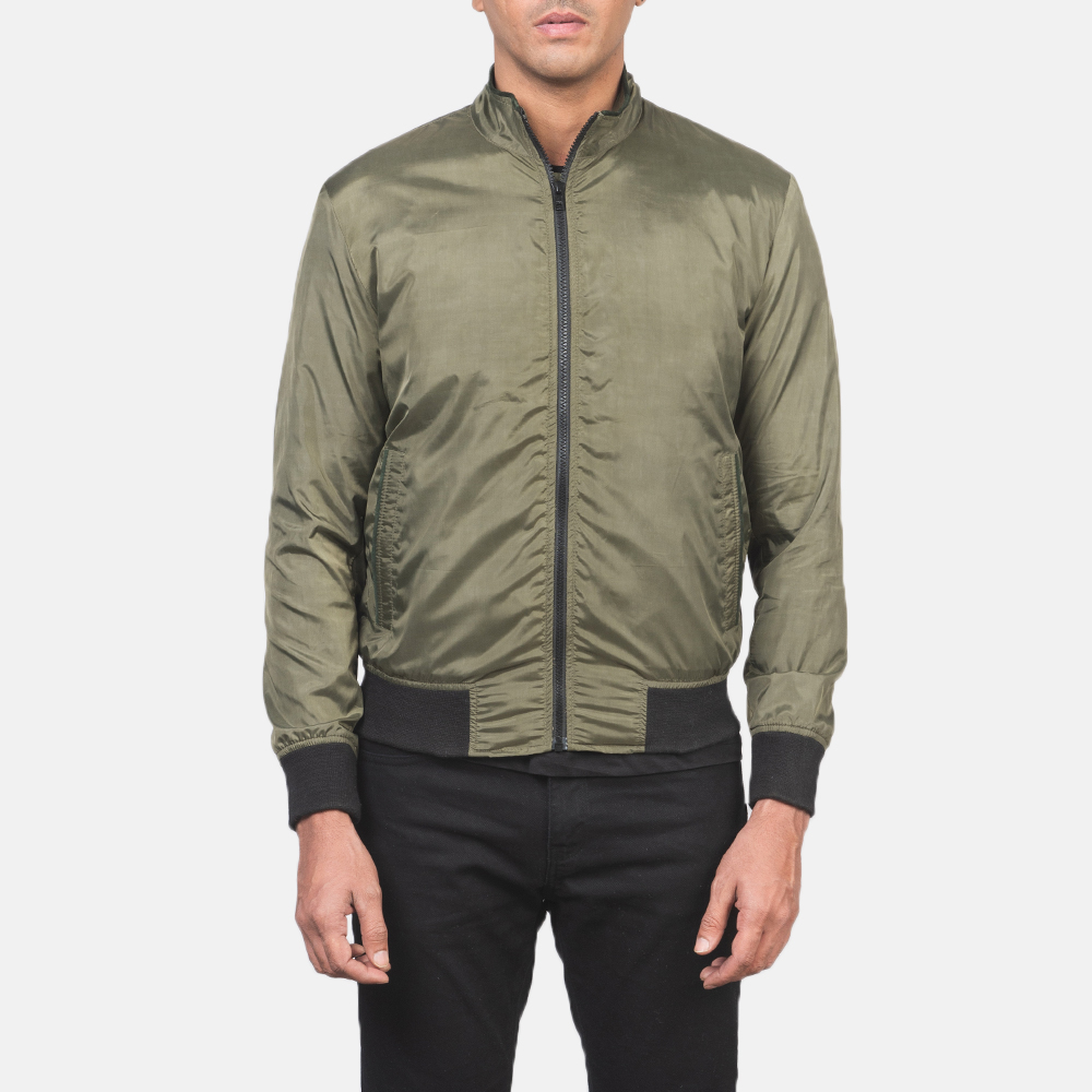 Men's Ramon Green Bomber Jacket 4