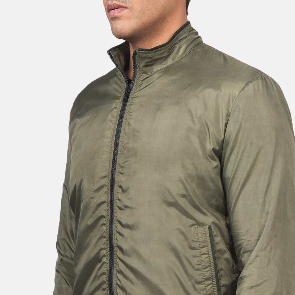 Men's Ramon Green Bomber Jacket 6