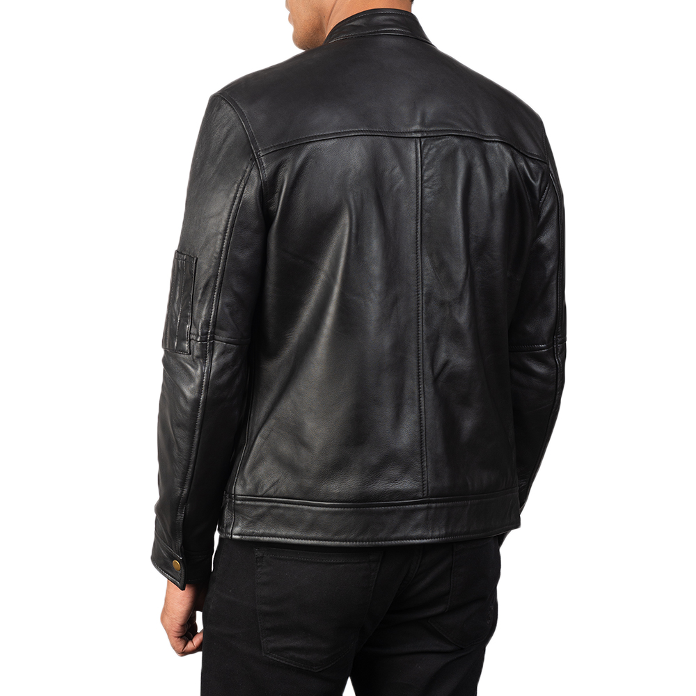 Men's Tea House Black Leather Jacket