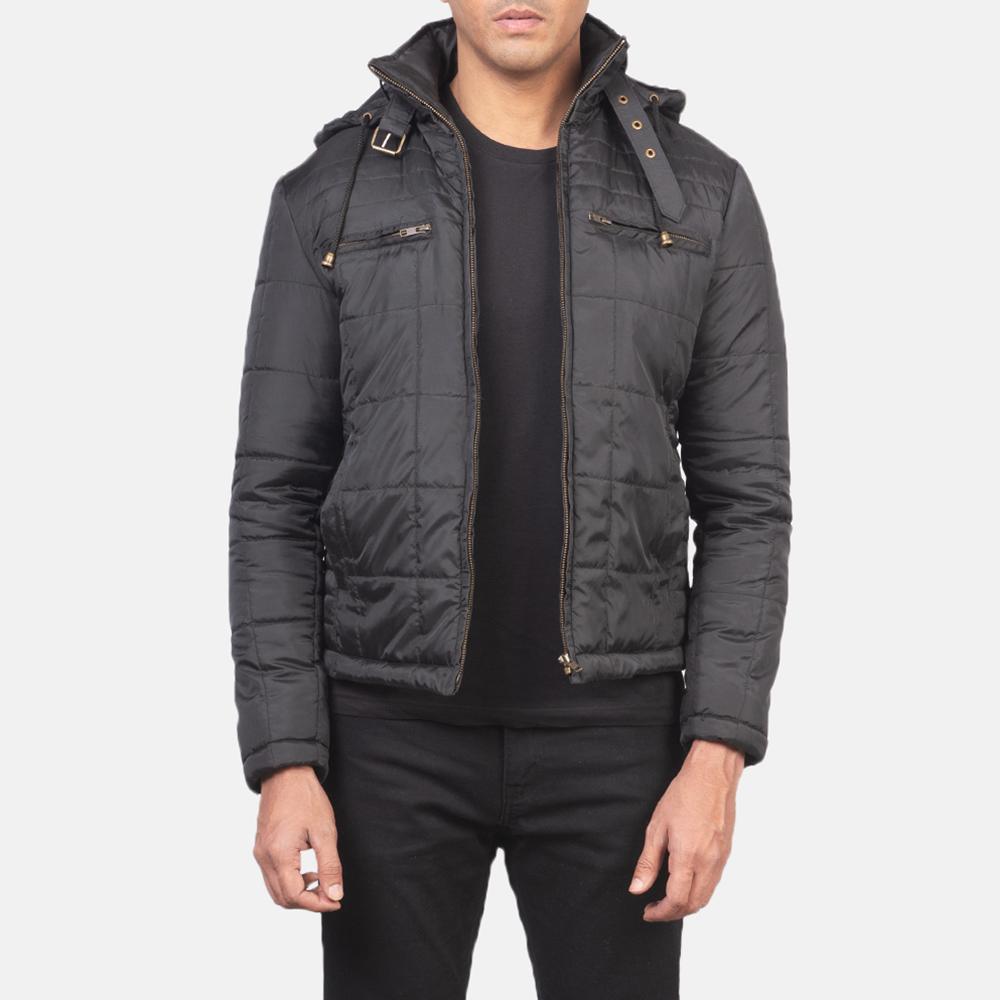 Men's Alps Quilted Black Windbreaker Jacket 3