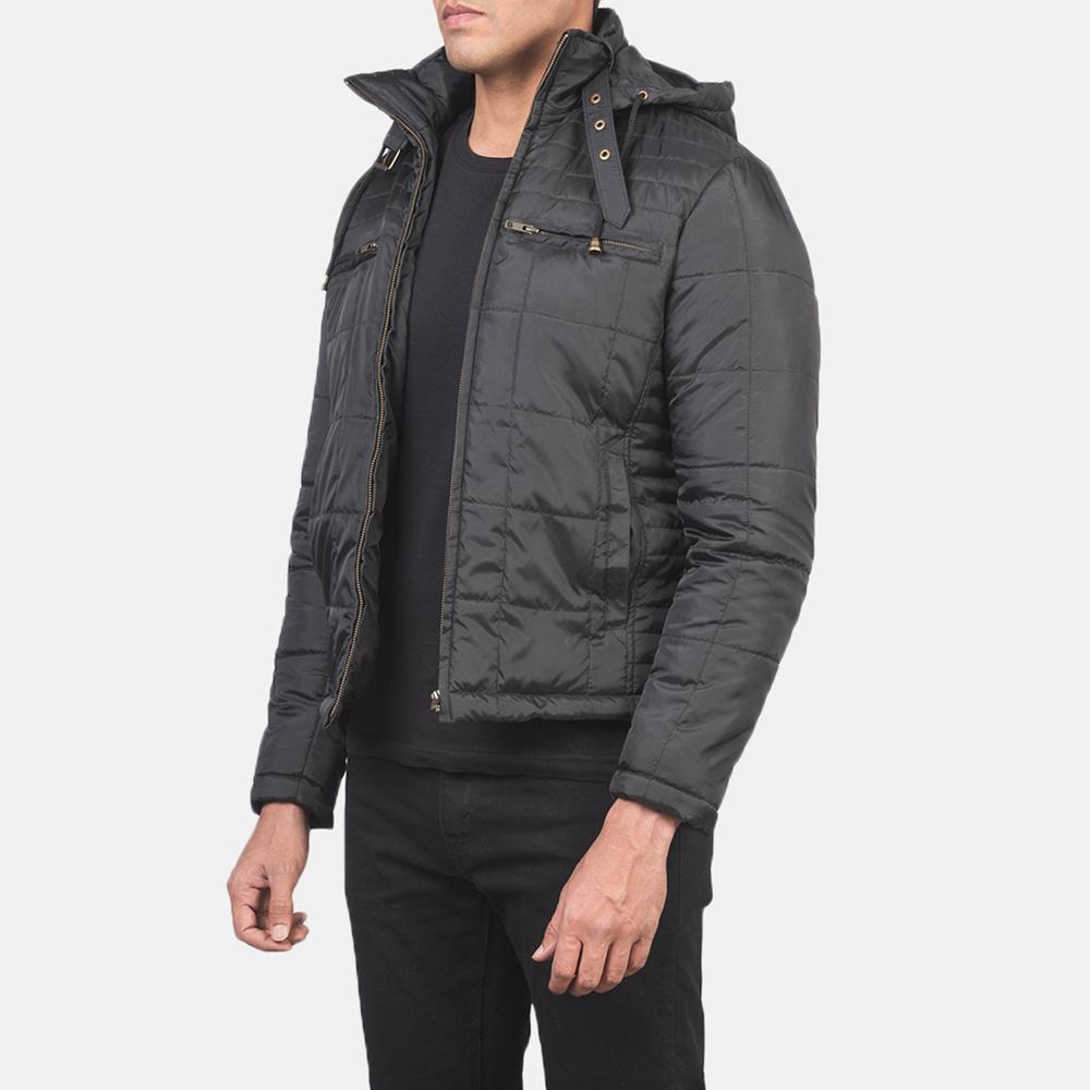 Men's Alps Quilted Black Windbreaker Jacket 2