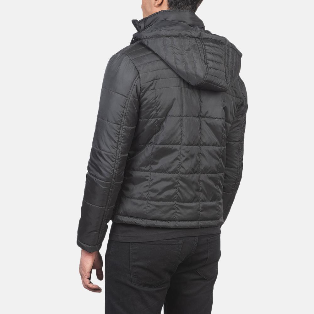 Men's Alps Quilted Black Windbreaker Jacket 5