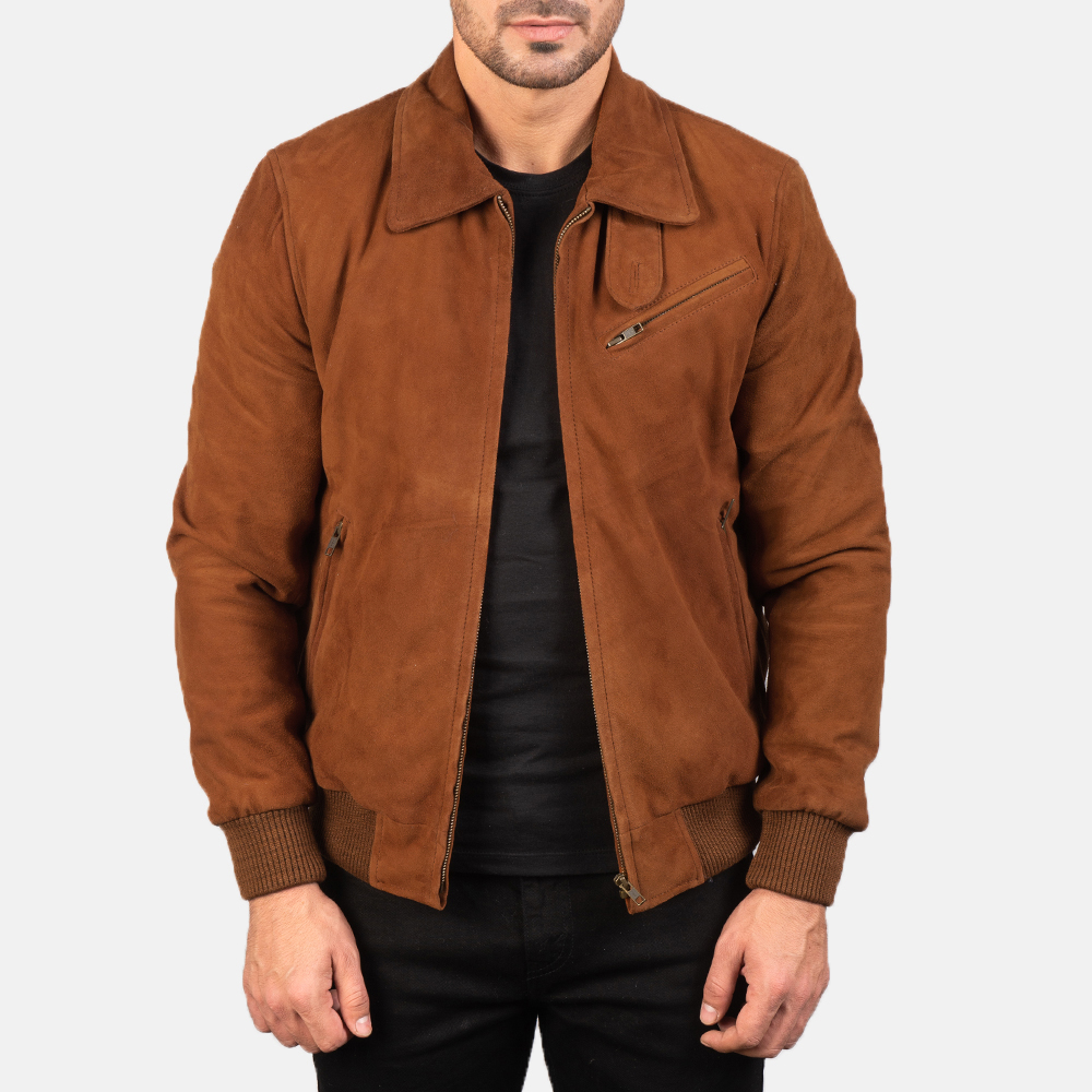 Men's Tomchi Tan Suede Leather Jacket 3