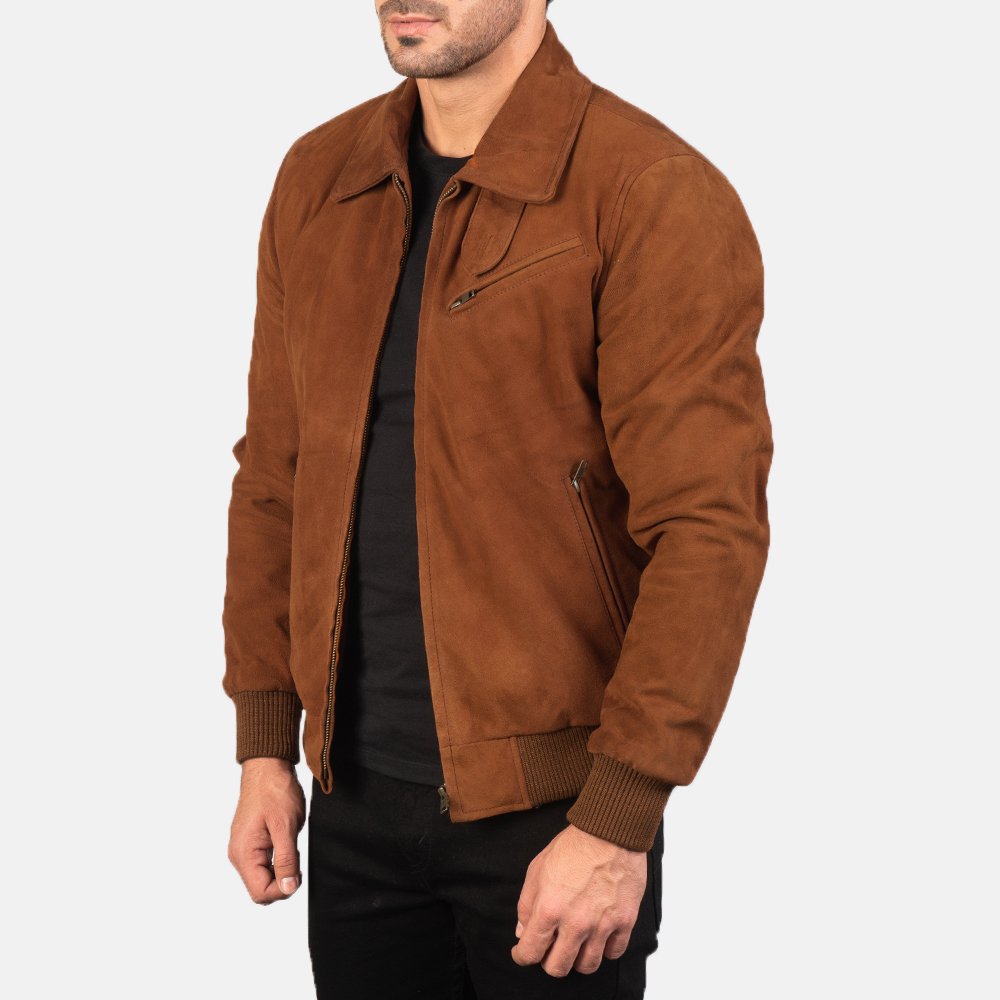 Men's Tomchi Tan Suede Leather Jacket 2