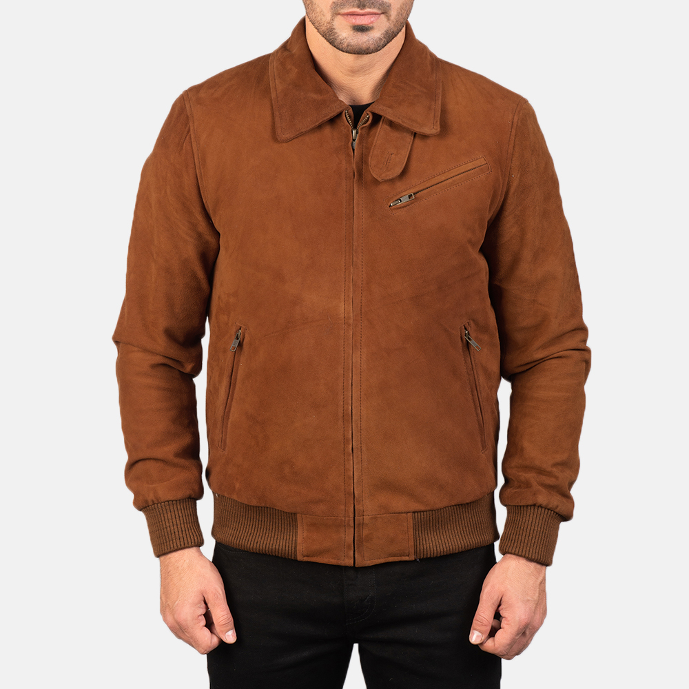 Men's Tomchi Tan Suede Leather Jacket 4
