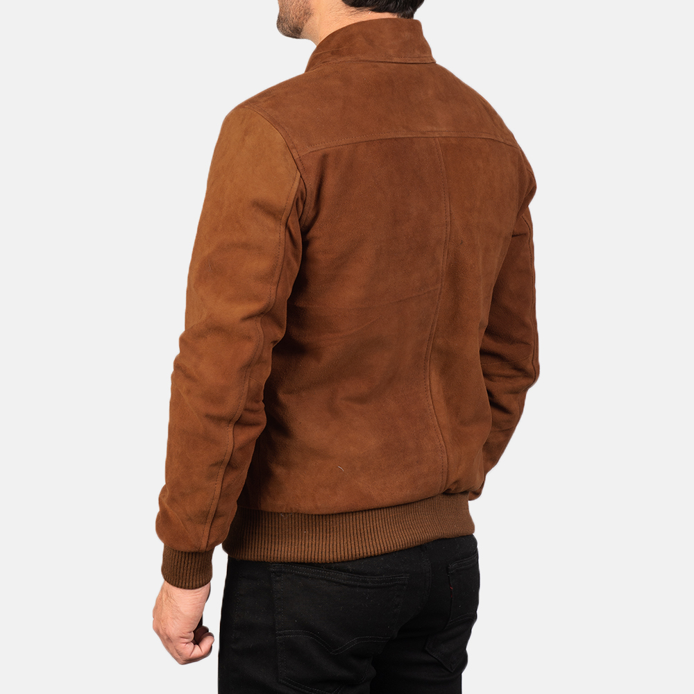 Men's Tomchi Tan Suede Leather Jacket 5