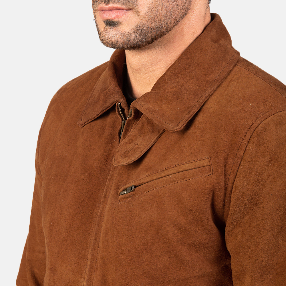 Men's Tomchi Tan Suede Leather Jacket 6