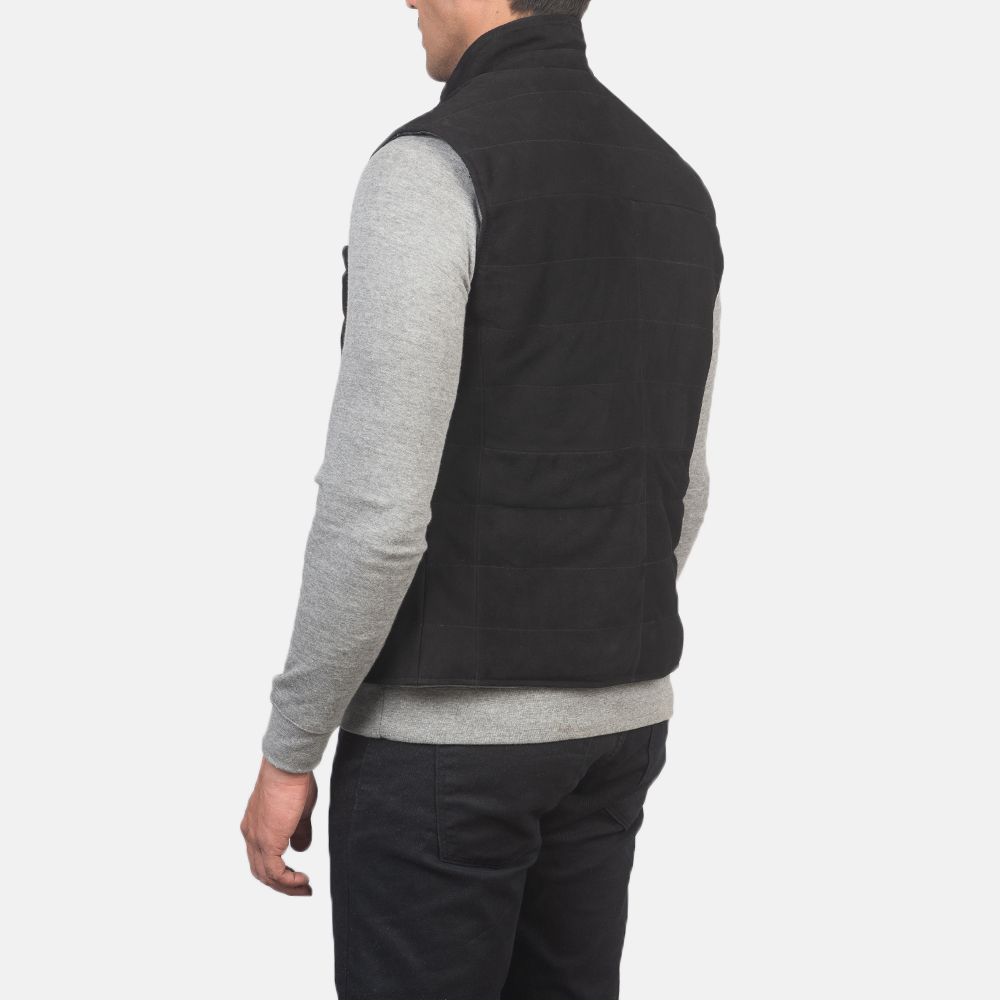 Men's Tony Black Suede Vest 5