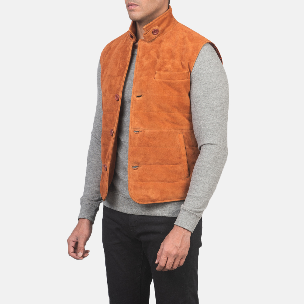 Men's Tony Brown Suede Vest 2