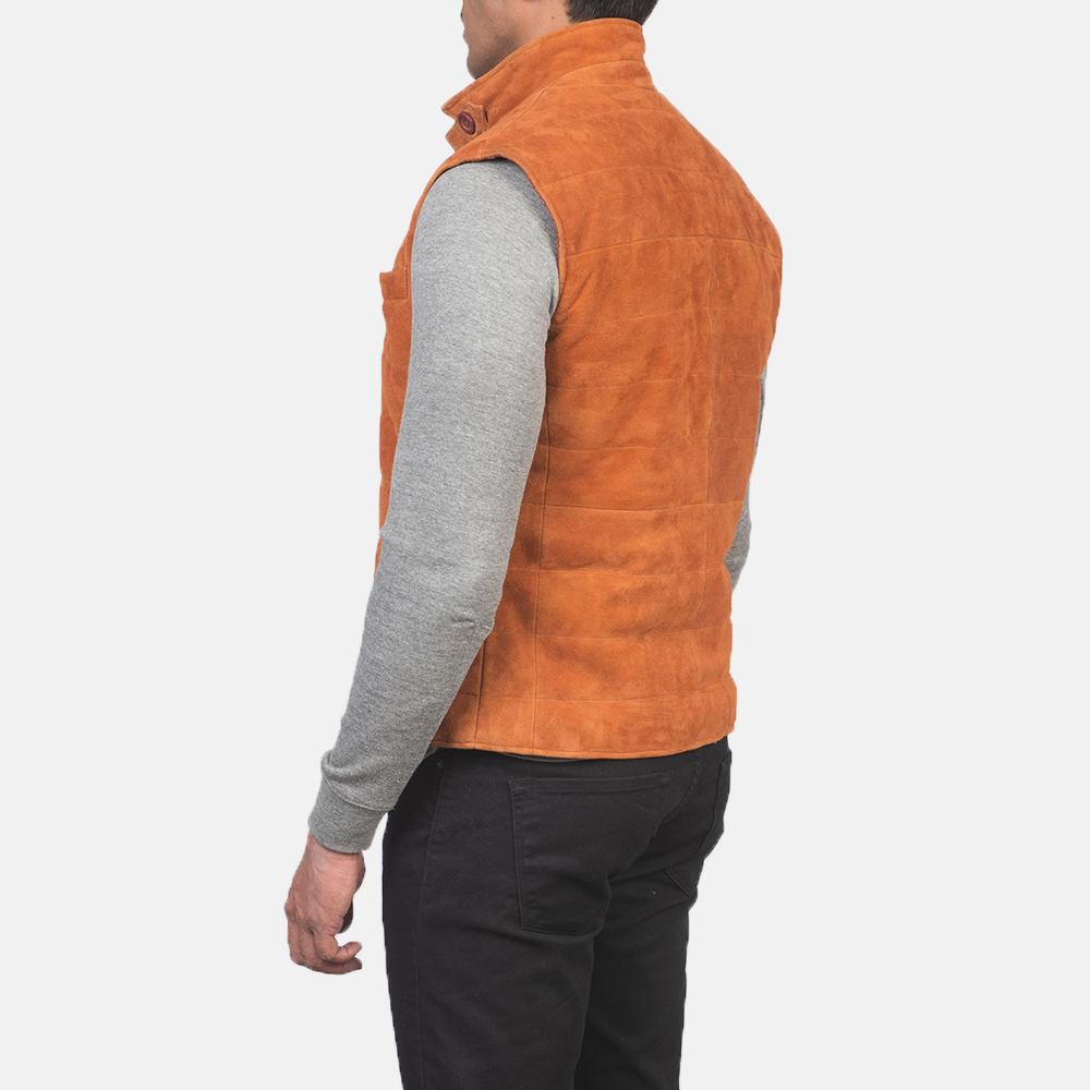 Men's Tony Brown Suede Vest 5