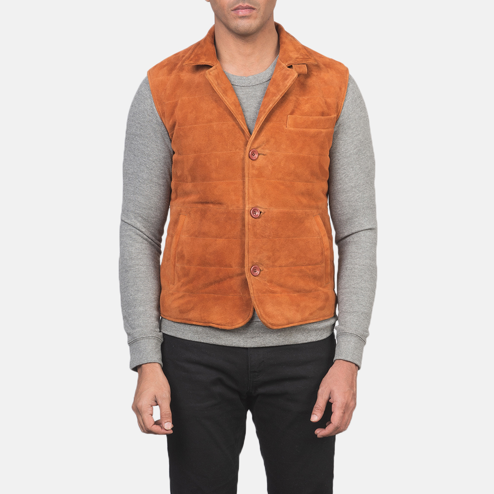 Men's Tony Brown Suede Vest 6