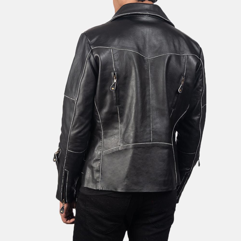 Men's Vincent Black Leather Biker Jacket