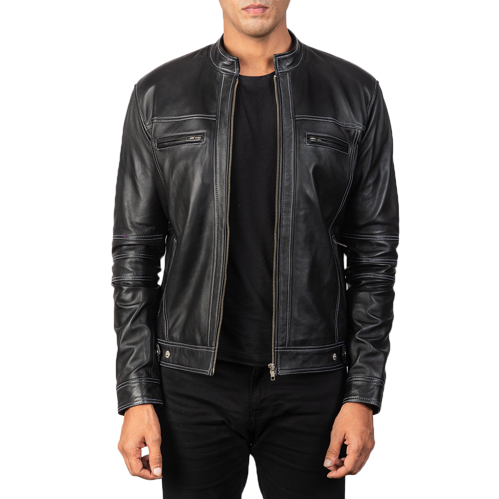 Men's Youngster Black Leather Biker Jacket