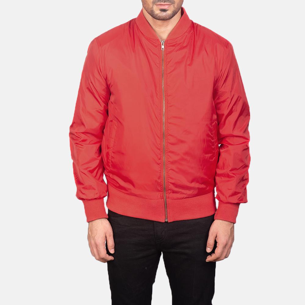 Men's Zack Red Bomber Jacket 4