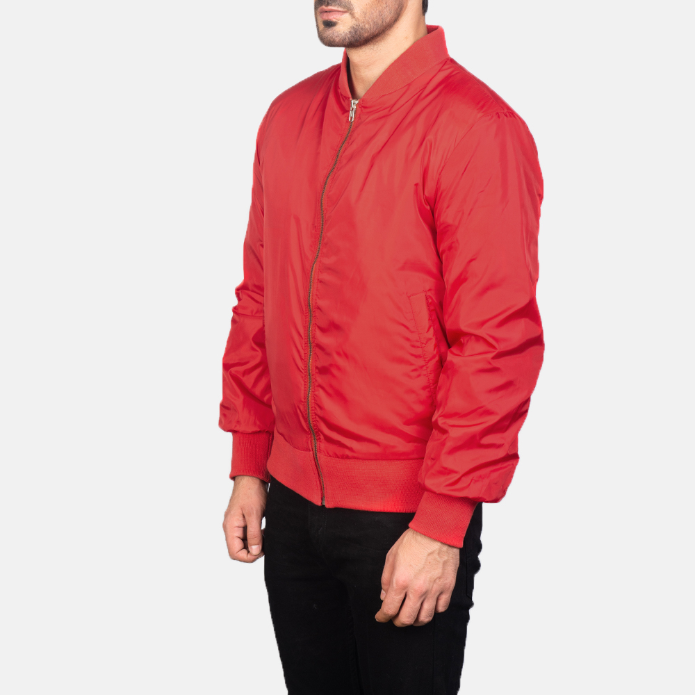 Men's Zack Red Bomber Jacket 2