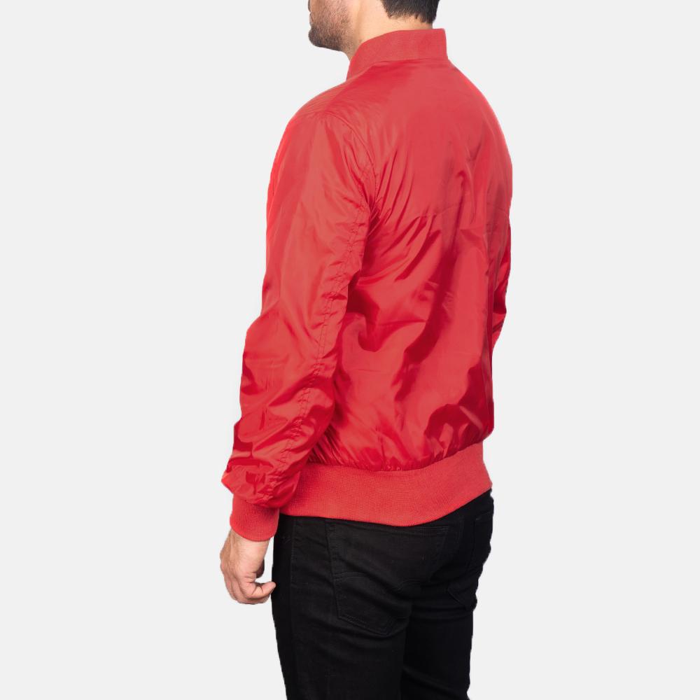 Men's Zack Red Bomber Jacket 5