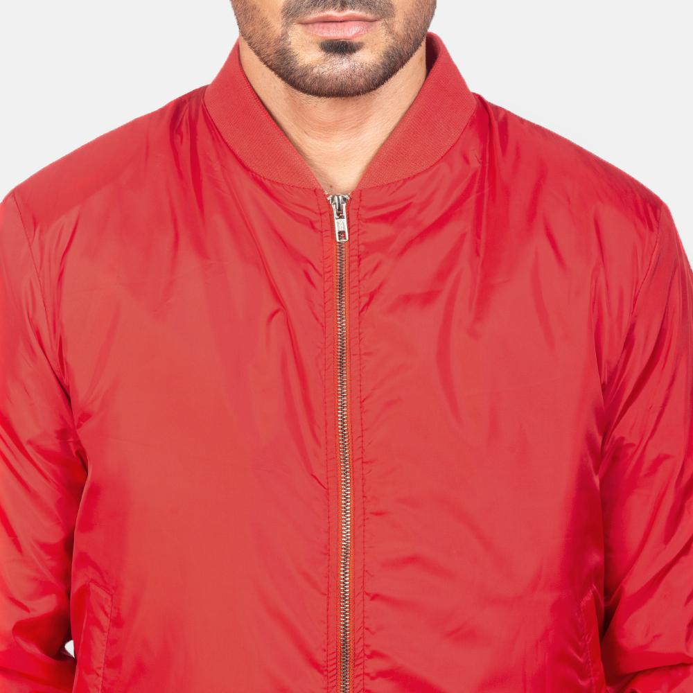 Men's Zack Red Bomber Jacket 6