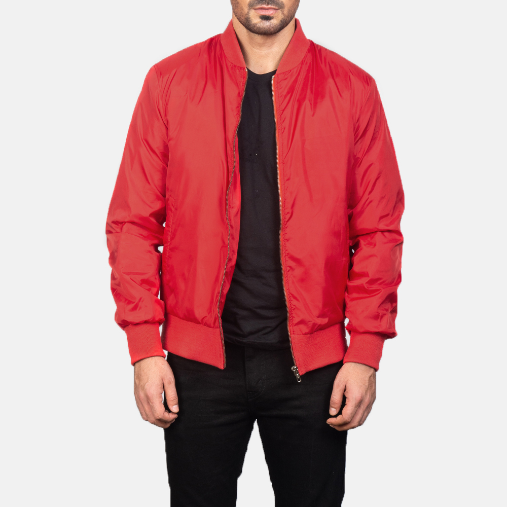 Zack Red Bomber Jacket