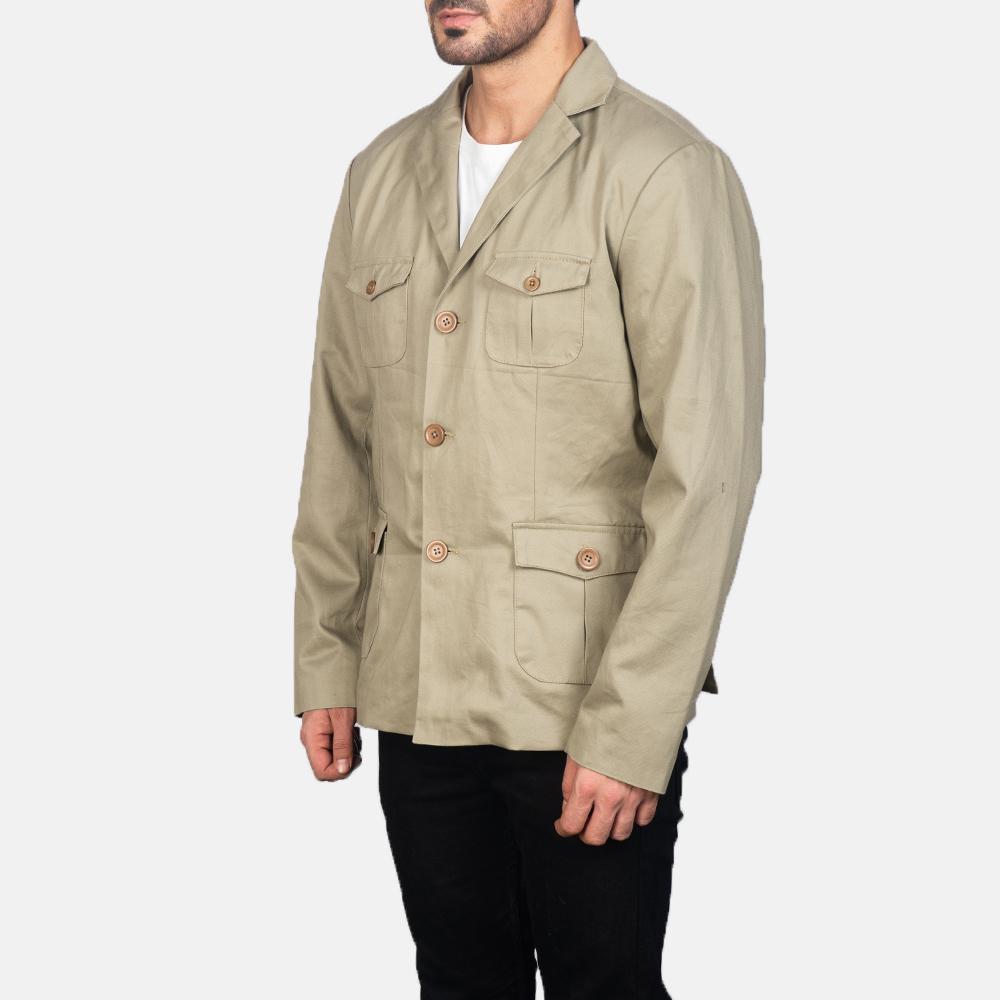 Men's Kajetan Beige Safari Jacket 2