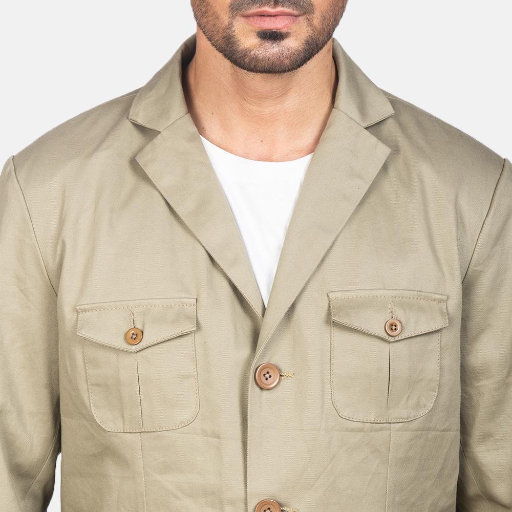 Men's Kajetan Beige Safari Jacket 6