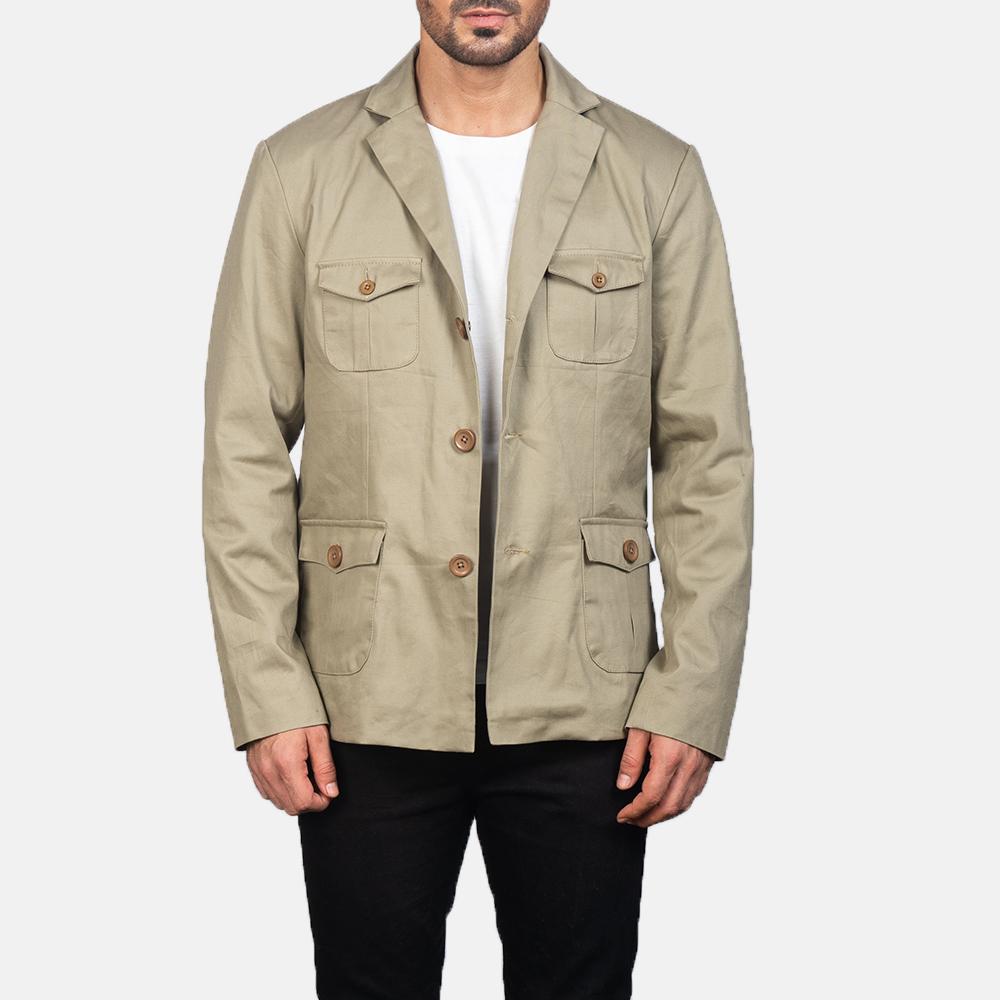 Men's Kajetan Beige Safari Jacket 3