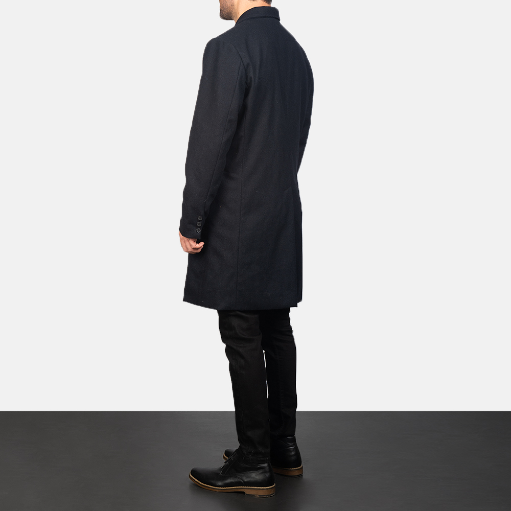 Men's Claud Black Wool Double Breasted Coat 5