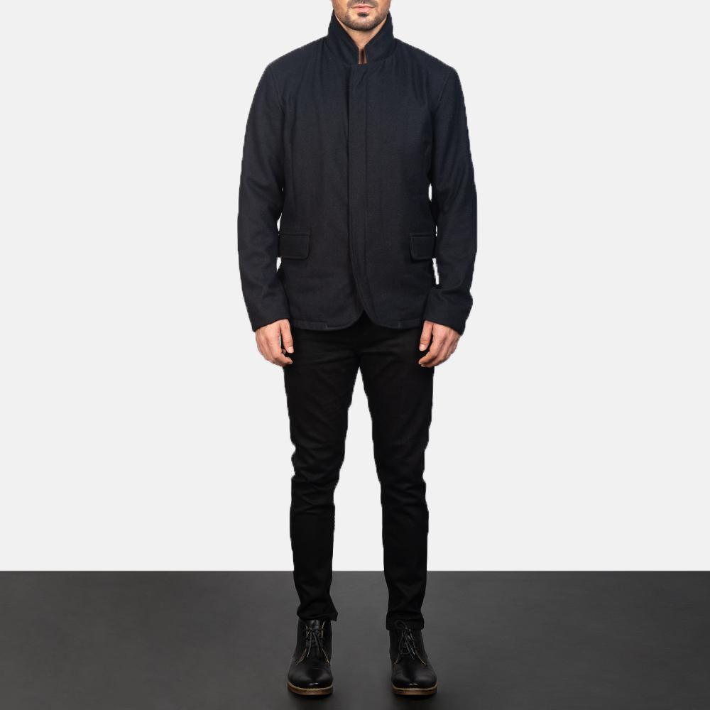 Men's Thomas Black Wool Jacket 1