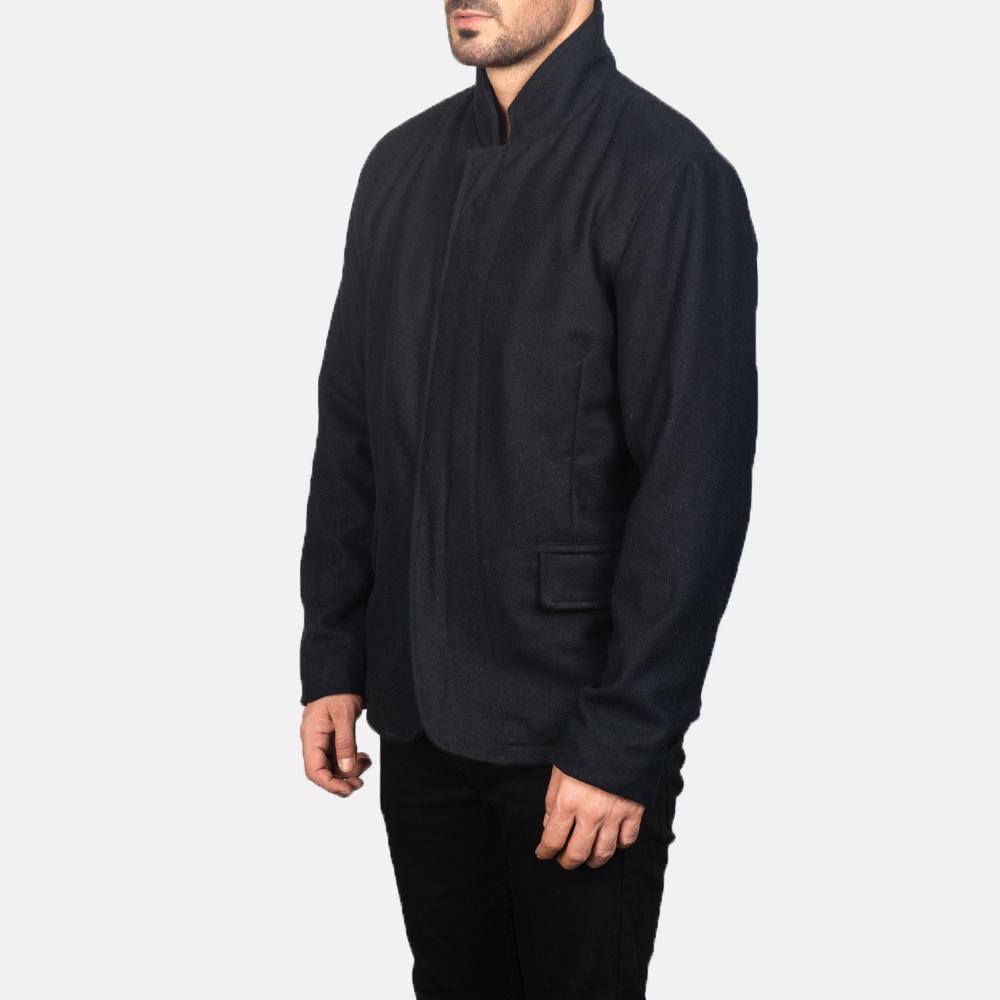 Men's Thomas Black Wool Jacket 2