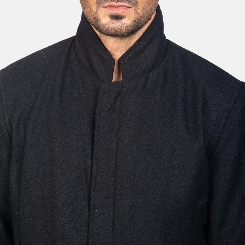 Men's Thomas Black Wool Jacket 6