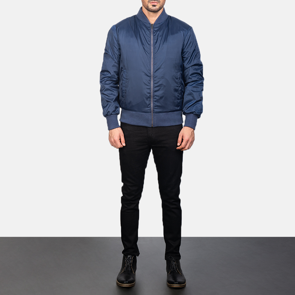 Men's Zack Blue Bomber Jacket 1