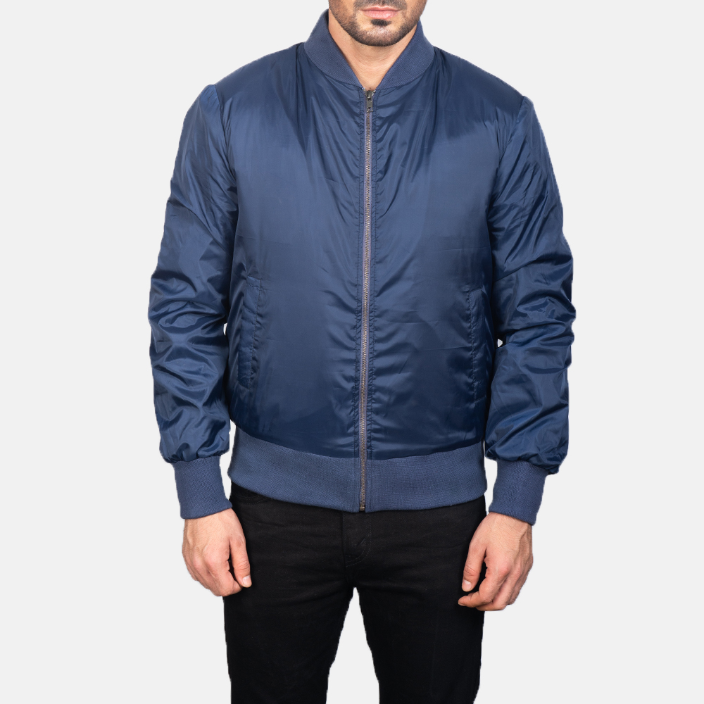 Men's Zack Blue Bomber Jacket 4