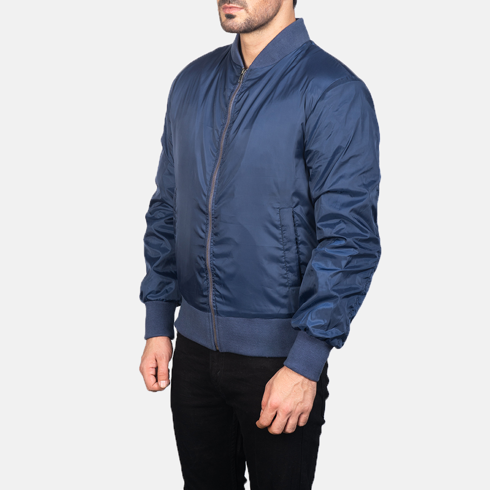 Men's Zack Blue Bomber Jacket 2