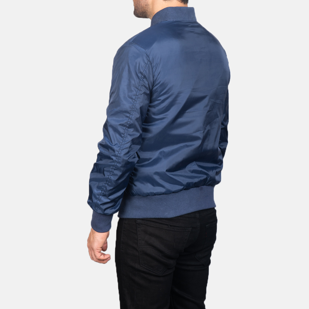 Men's Zack Blue Bomber Jacket 5
