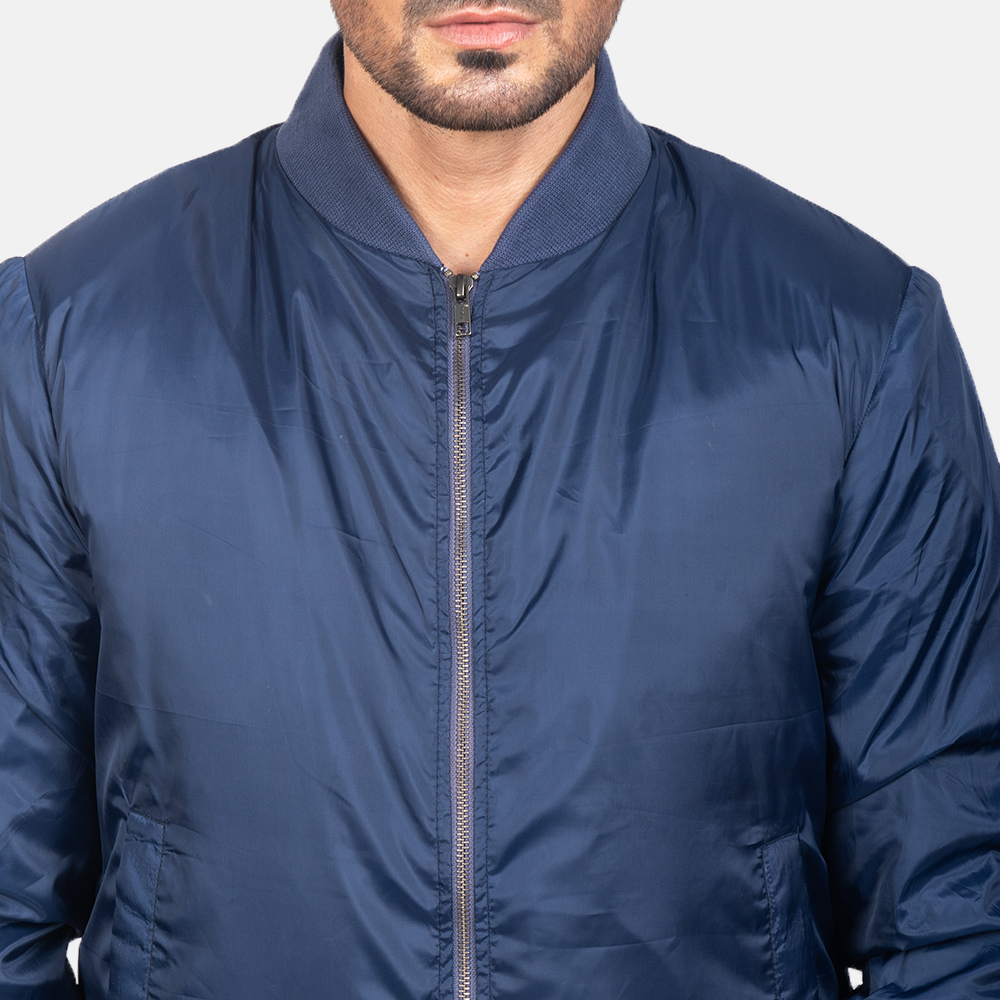 Men's Zack Blue Bomber Jacket 6