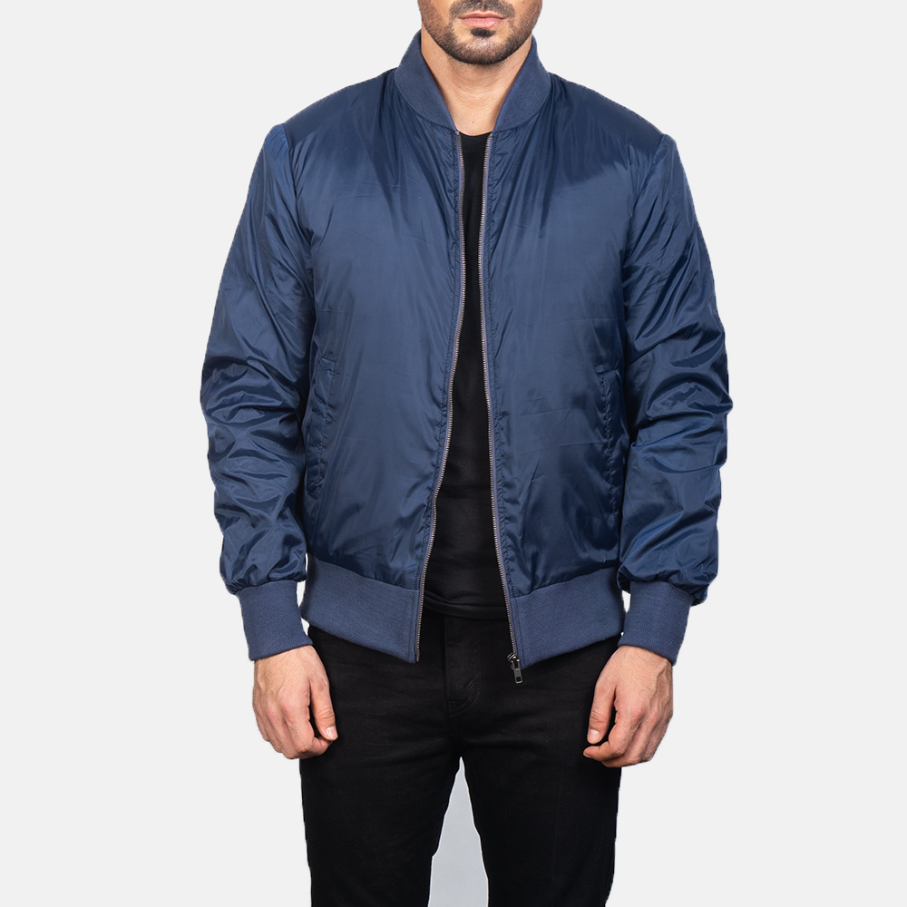 Men's Zack Blue Bomber Jacket 3