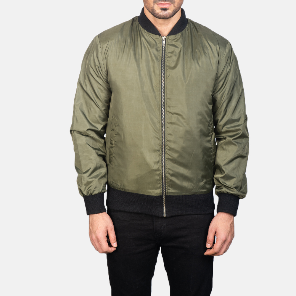 Men's Zack Green Bomber Jacket 4