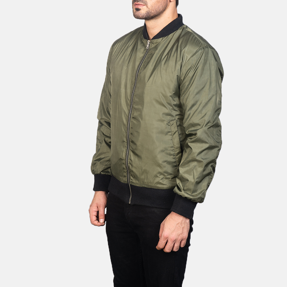 Men's Zack Green Bomber Jacket 2