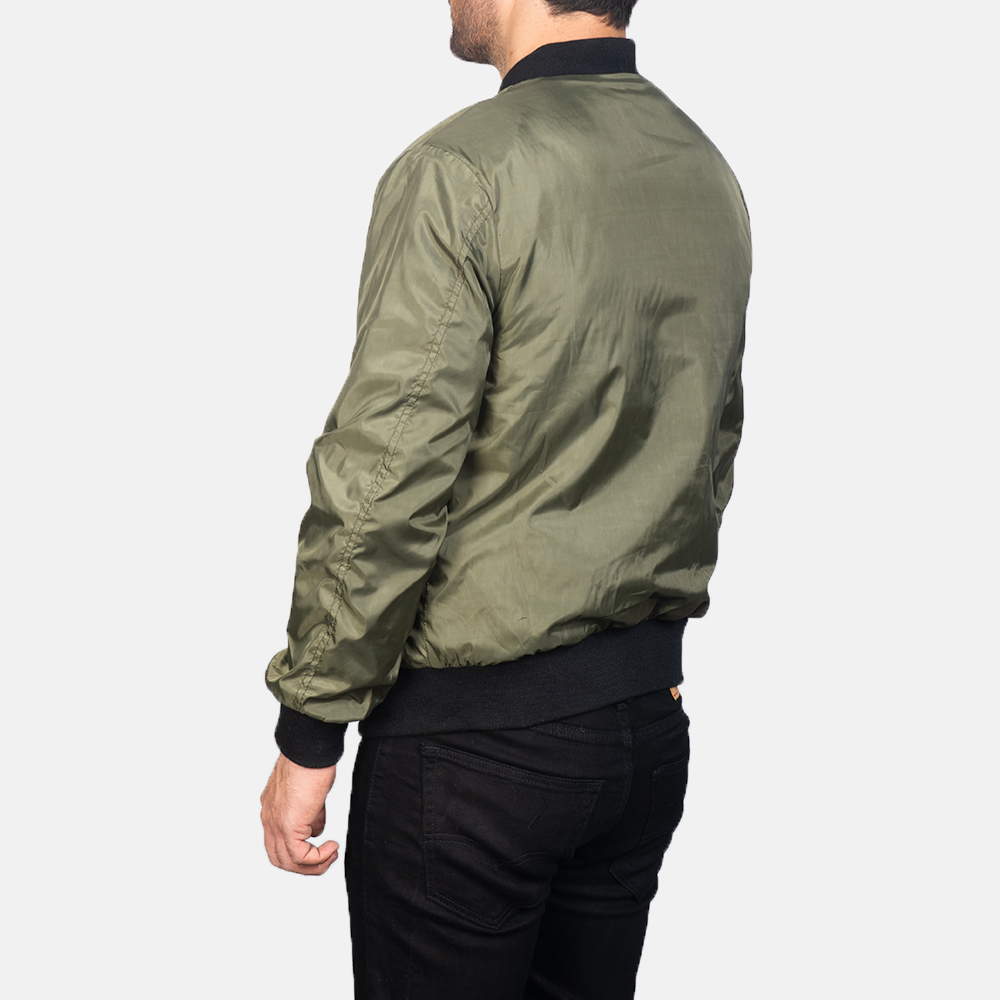 Men's Zack Green Bomber Jacket 5