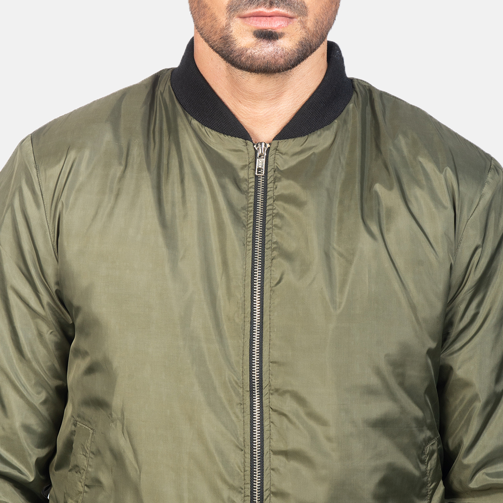 Men's Zack Green Bomber Jacket 6