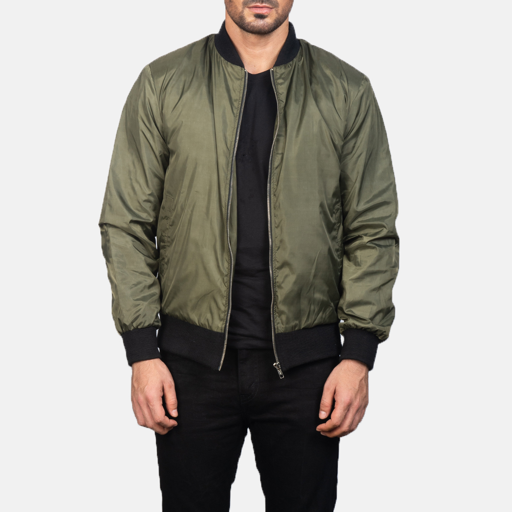 Men's Zack Green Bomber Jacket 3