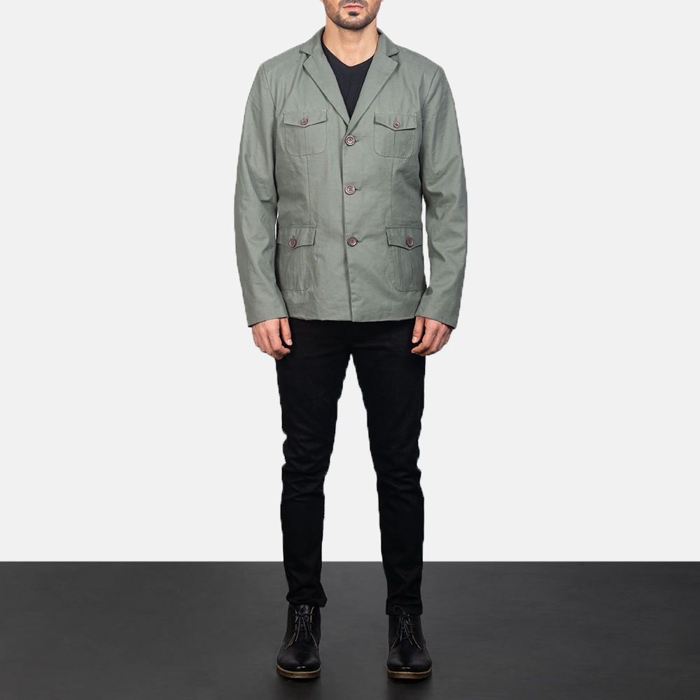 Men's Grey Safari Jacket 1