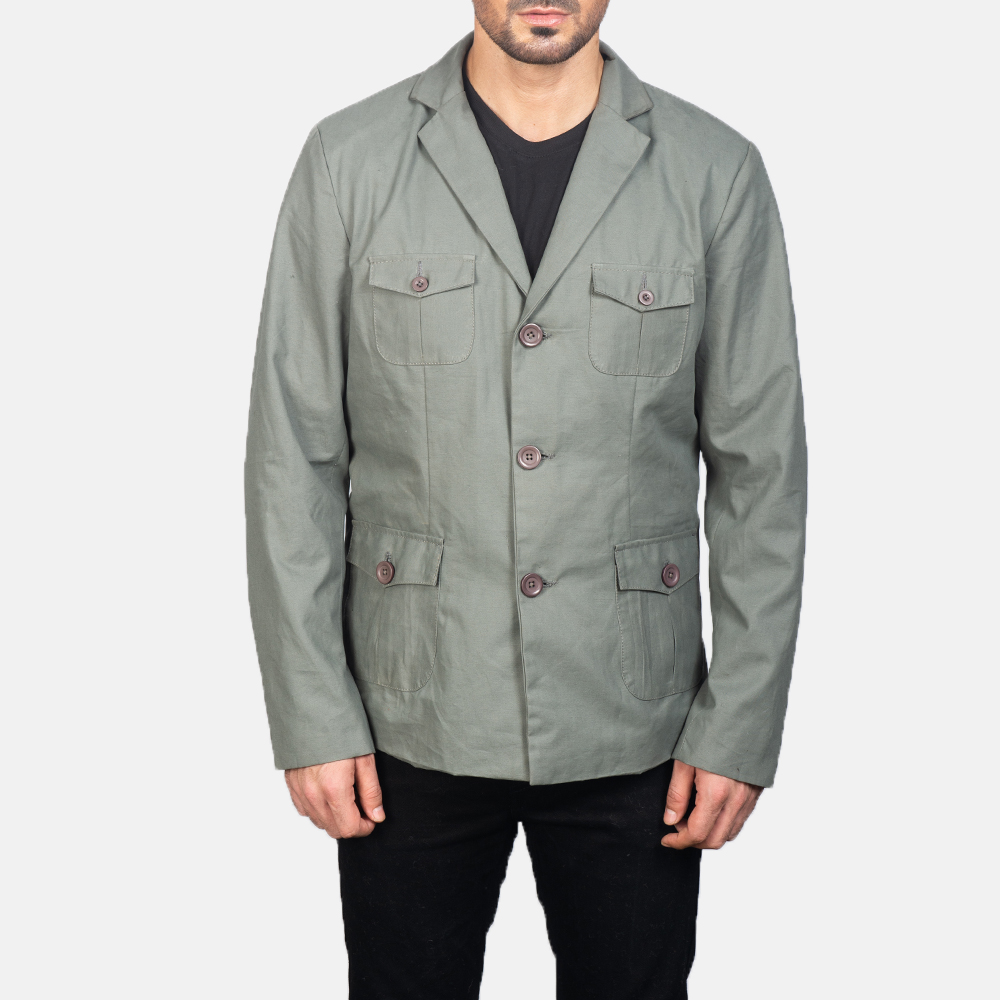 Men's Grey Safari Jacket 4