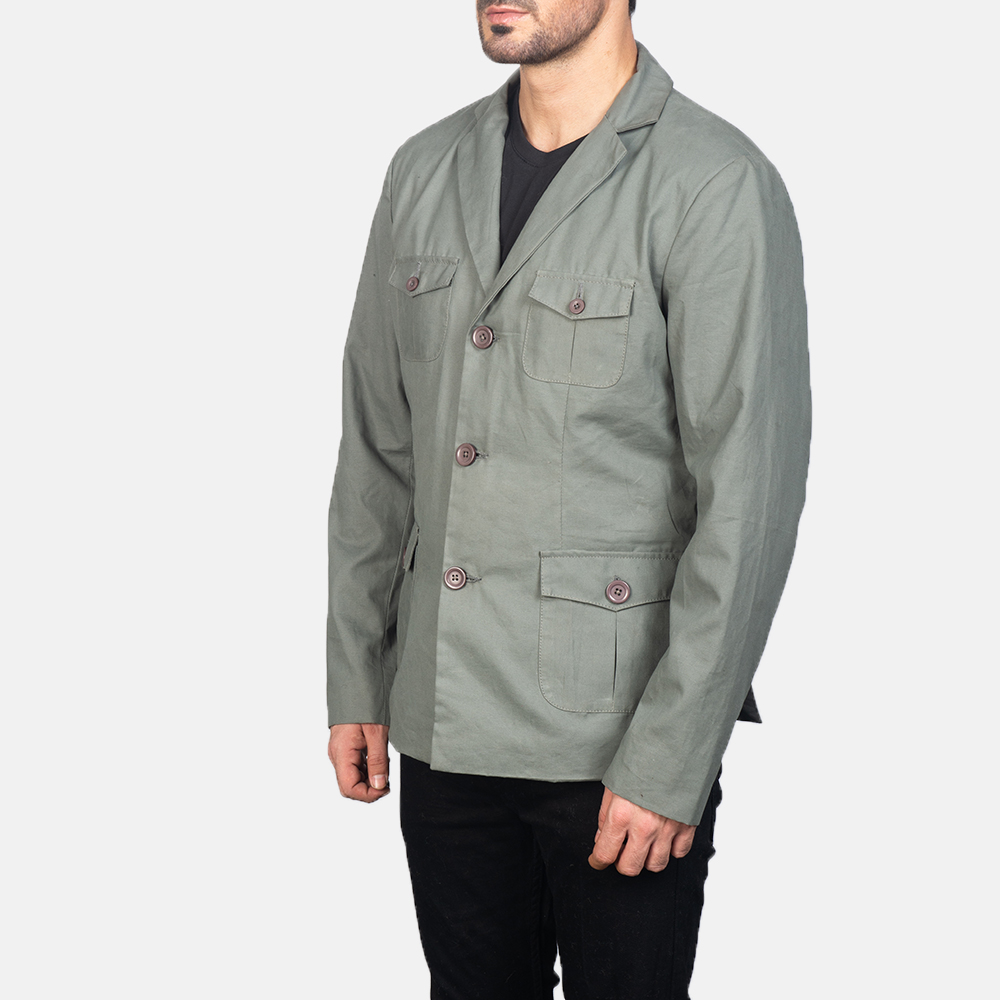 Men's Grey Safari Jacket 2
