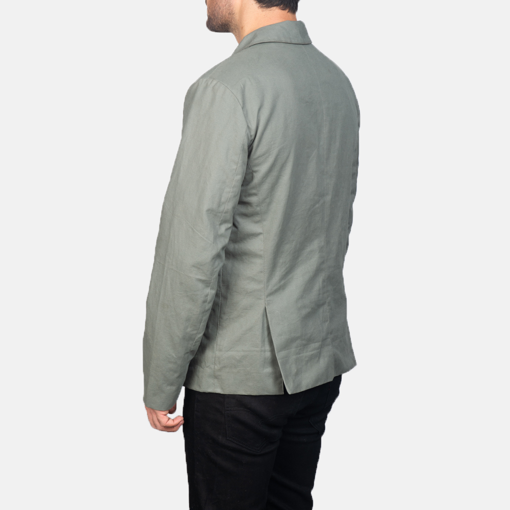 Men's Grey Safari Jacket 5