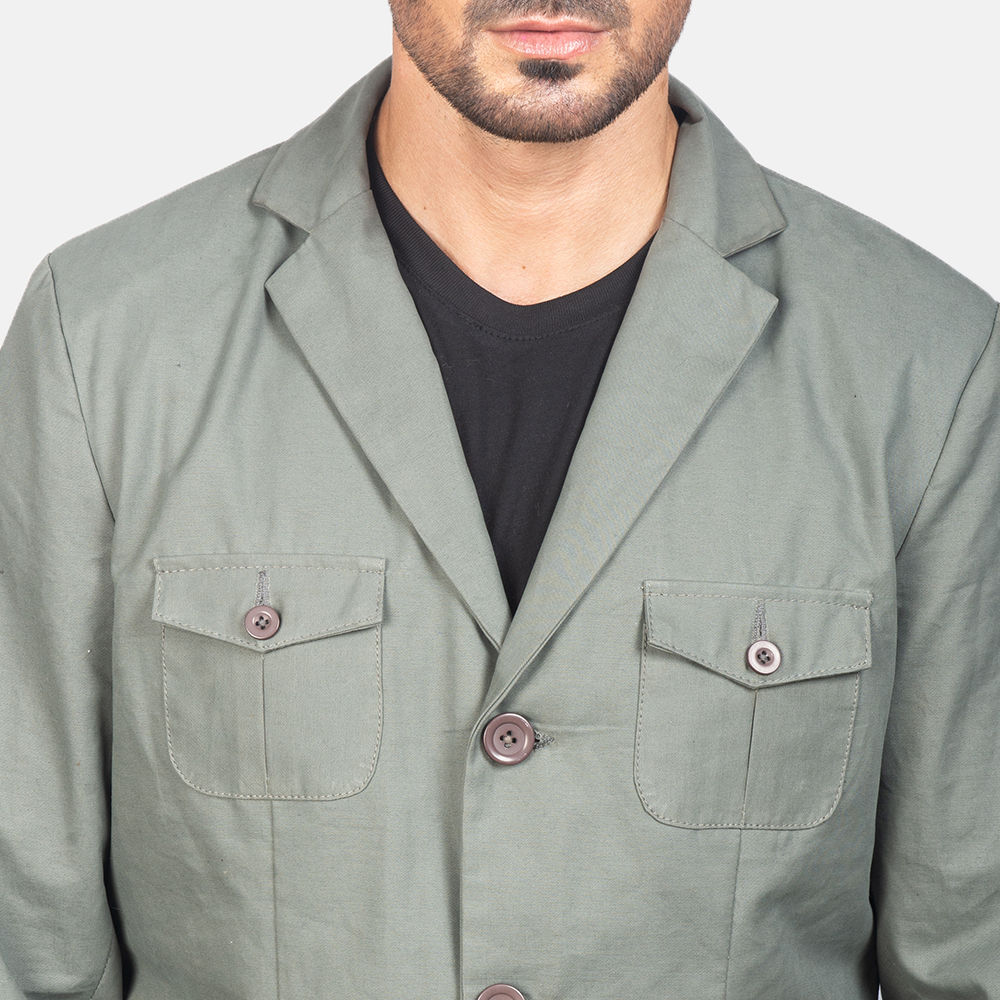 Men's Grey Safari Jacket 6