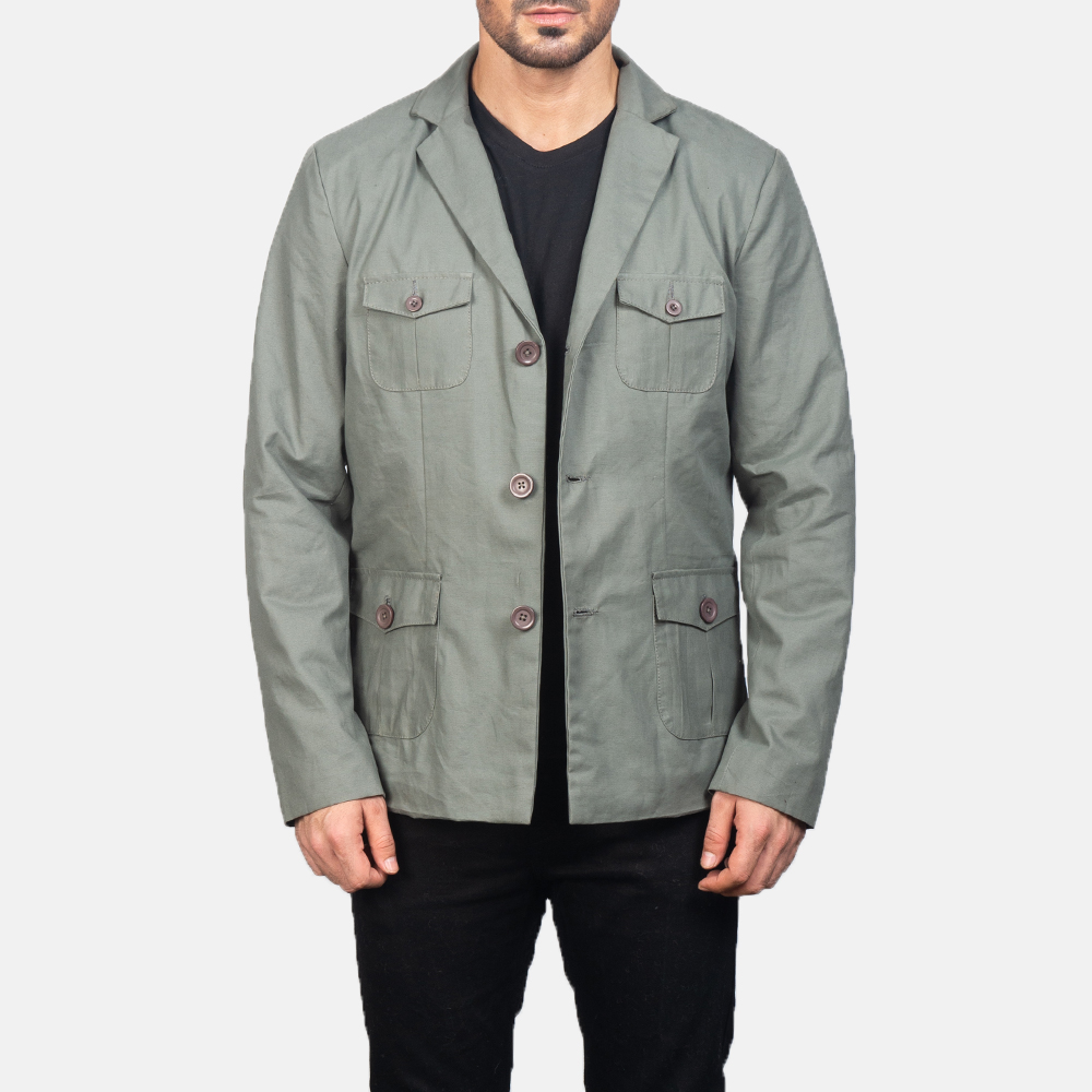 Men's Grey Safari Jacket 3