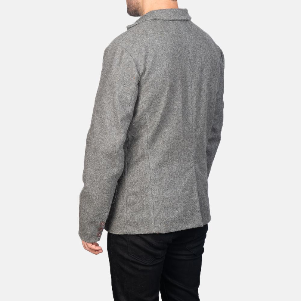 Men's Grey Wool Blazer 5