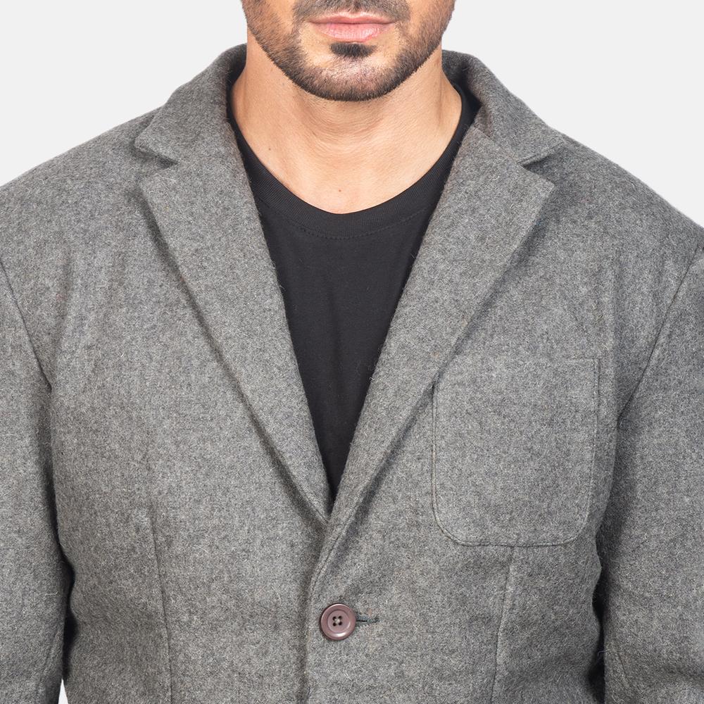 Men's Grey Wool Blazer 6