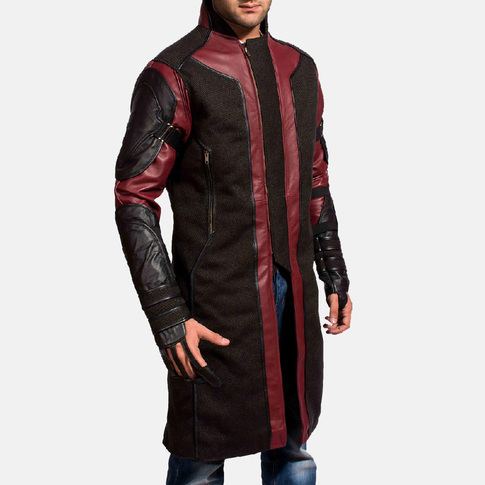 Mens Archer Leather Coat 3