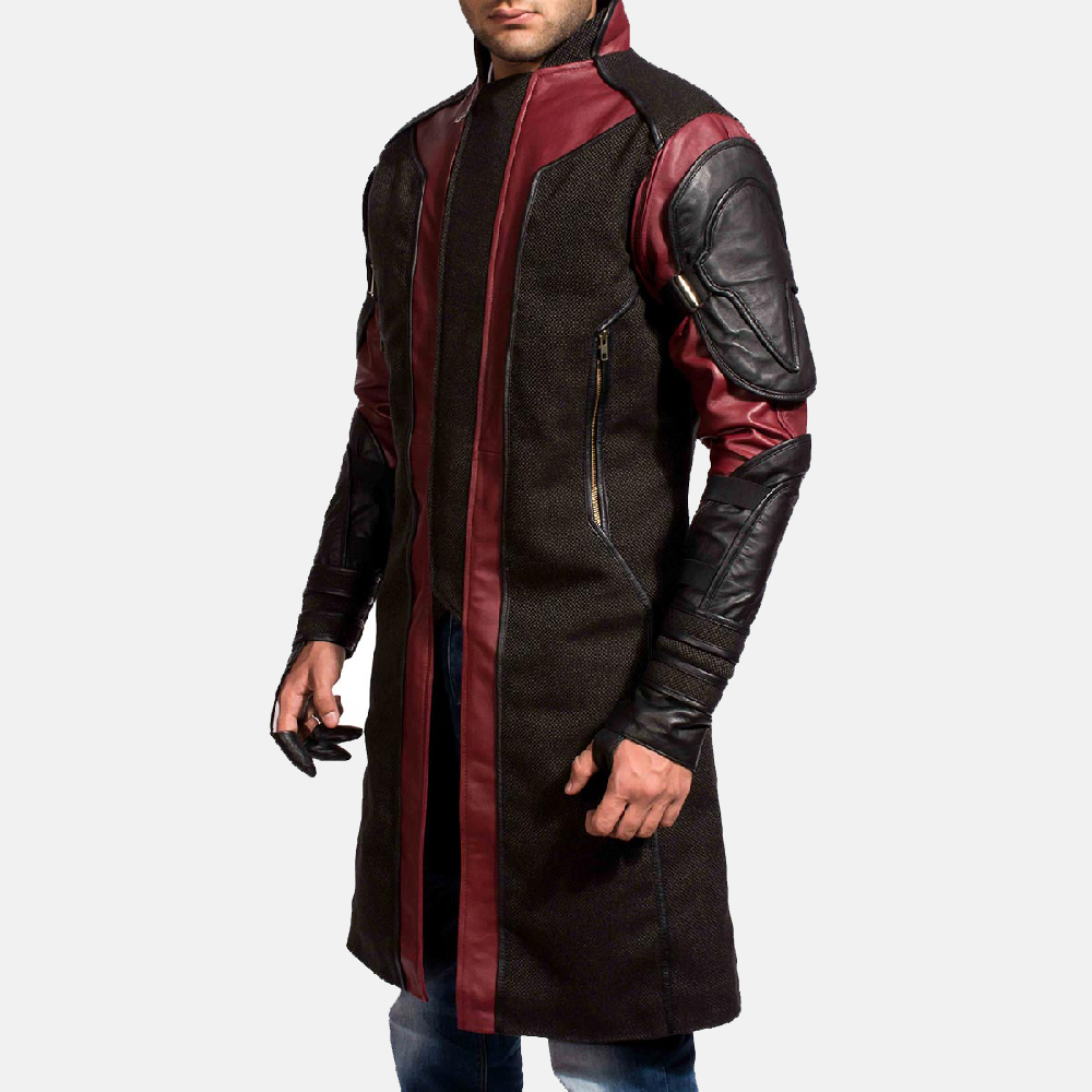 Mens Archer Leather Coat 4
